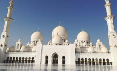 Abu Dhabi Scheich Zayid Moschee front 410x250 - VAE & OMAN MIT RUBBA KREUZFAHRT